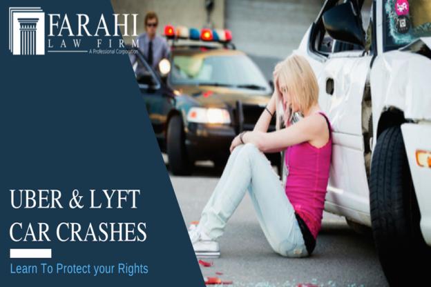 Uber or Lyft car crash Los Angeles