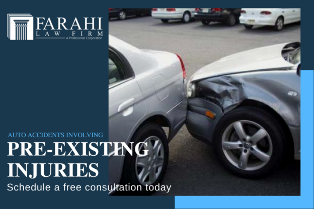 pre-existing condition being aggravated by a car accident