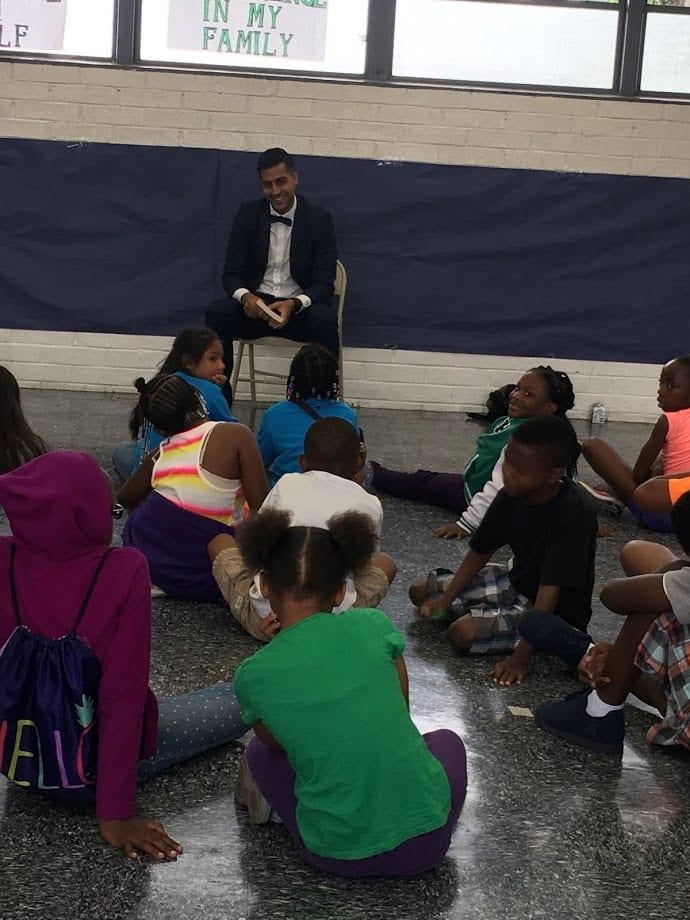 Farahi meet children