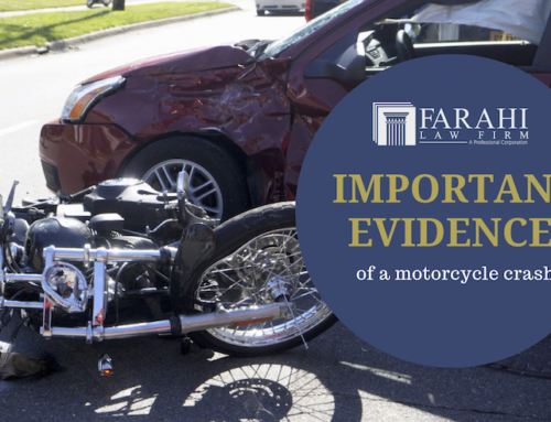 Important evidence of a motorcycle crash