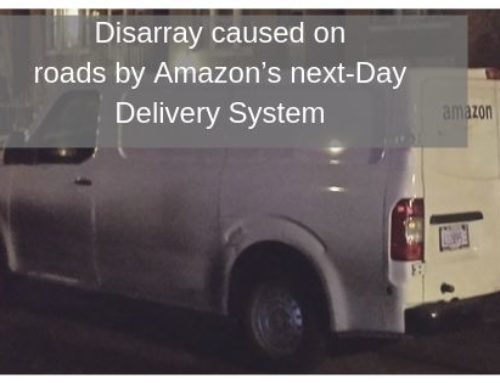 Disarray caused on roads by Amazon's next-Day Delivery System