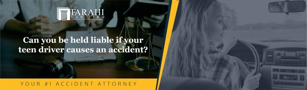 Can you be held liable if your teen driver causes an accident?