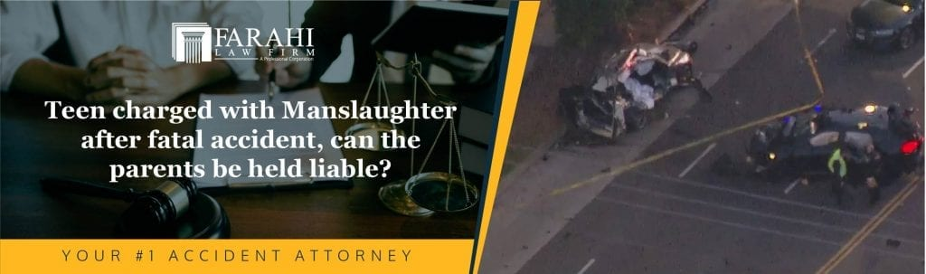 Teen charged with Manslaughter after fatal accident, can the parents be held liable?
