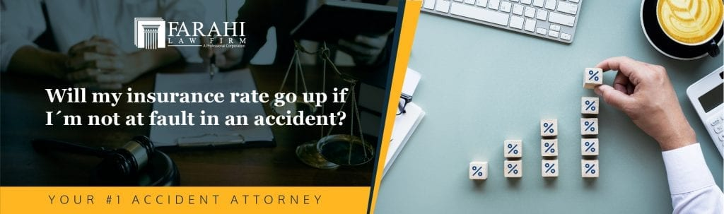 Will my insurance rate go up if I'm not at fault in an accident?